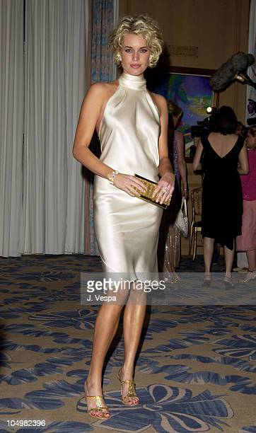 Rebecca RomijnStamos during Cannes 2002 Femme Fatale Dinner at Le Dome Carlton Hotel in Cannes France