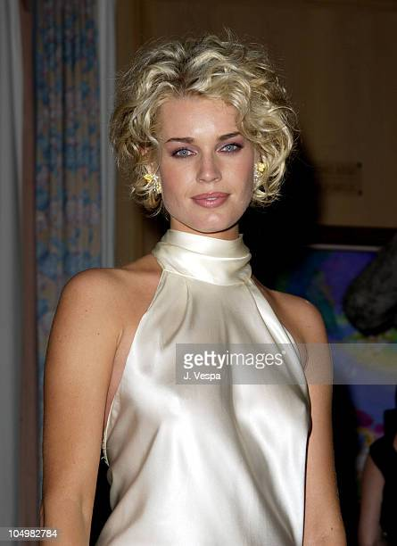 Rebecca RomijnStamos during Cannes 2002 'Femme Fatale' Dinner at Le Dome Carlton Hotel in Cannes France