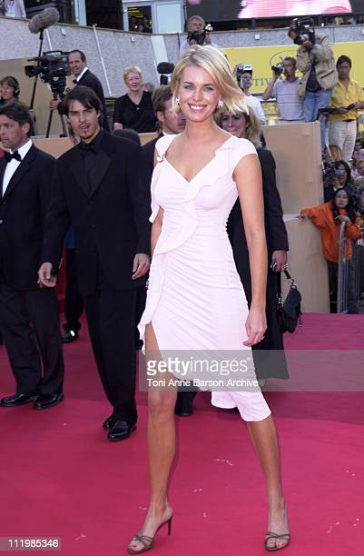 Rebecca RomijnStamos during Cannes 2002 Palmares Awards Ceremony Arrivals at Palais des Festivals in Cannes France