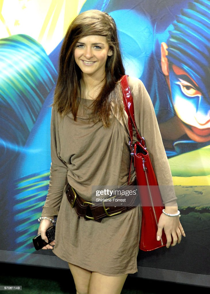 Rebecca Ryan attends a green carpet photocall for Cirque du Soleil's 'Varekai' at The White Grand Chapiteau at The Trafford Centre on February 25, 2010 in Manchester, England.