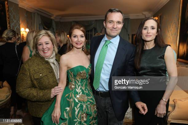 Rebecca Seawright Jean Shafiroff Greg Kelly and Judith Gray attend Martin and Jean Shafiroff Host St Patrick's Day Cocktails Party in Honor of Stony...