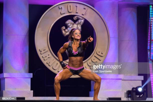 Rebecca Sizemore competes in Fitness International as part of the Arnold Sports Festival on March 3 at the Greater Columbus Convention Center in...