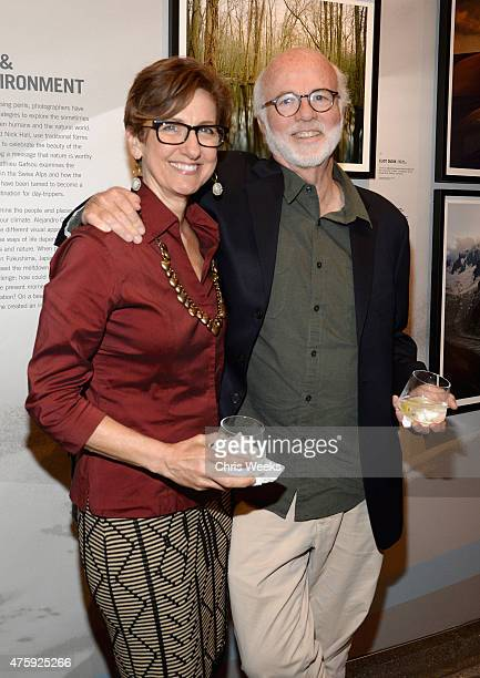 Rebecca Soladay Kennerly and Photographer David Hume Kennerly attend the opening celebration for the Annenberg Space For Photography's Emerging...