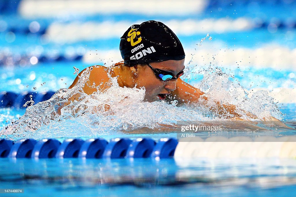 rebecca soni competes in the second semifinal heat of the womens 200 m breaststroke during day