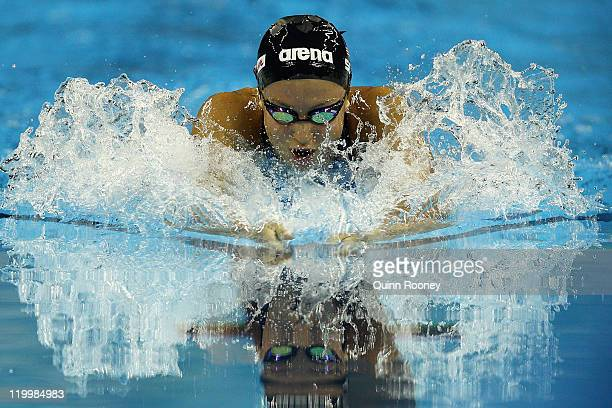Rebecca Soni of the United States competes in the Women's 200m Breaststroke Semi Final during Day Thirteen of the 14th FINA World Championships at...
