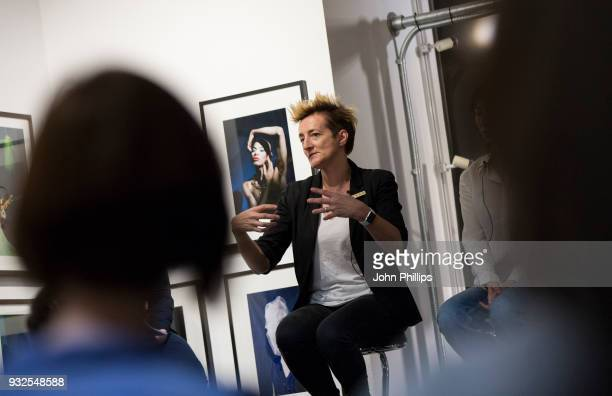 Rebecca Swift attends the SUBJECT / OBJECT / CREATOR exhibition and discussion on the evolution of the female gaze at Getty Images Gallery on March...