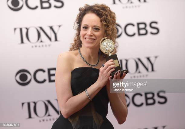 Rebecca Taichman, winner of the award for Best Direction of a Play for '?Indecent,'? poses in the press room during the 2017 Tony Awards at 3 West...