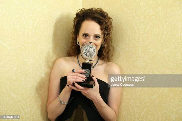 """Rebecca Taichman, winner of the award for Best Direction of a Play for """"Indecent,"""" poses in the press room during the 2017 Tony Awards at 3 West Club..."""