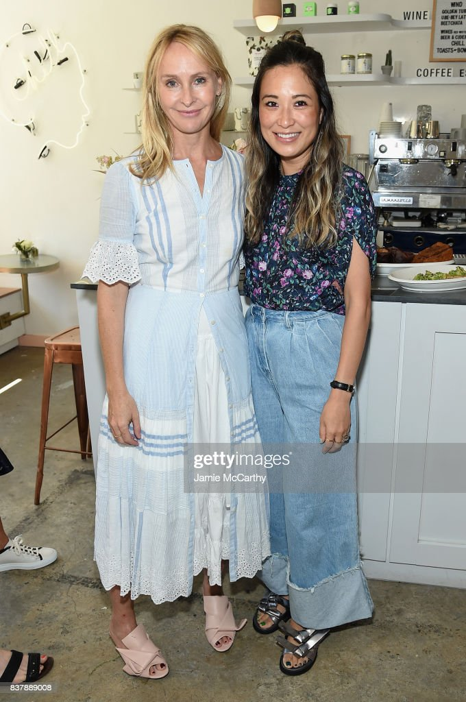 Rebecca Taylor and Caroline McGuire attend the Eberjey x Rebecca Taylor Launch Event at Chillhouse on August 23, 2017 in New York City.