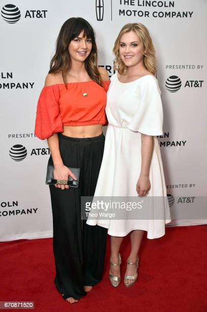 Rebecca Tillman and Actress Eliza Taylor attends the 'Thumper' Premiere during 2017 Tribeca Film Festival at Cinepolis Chelsea on April 20 2017 in...