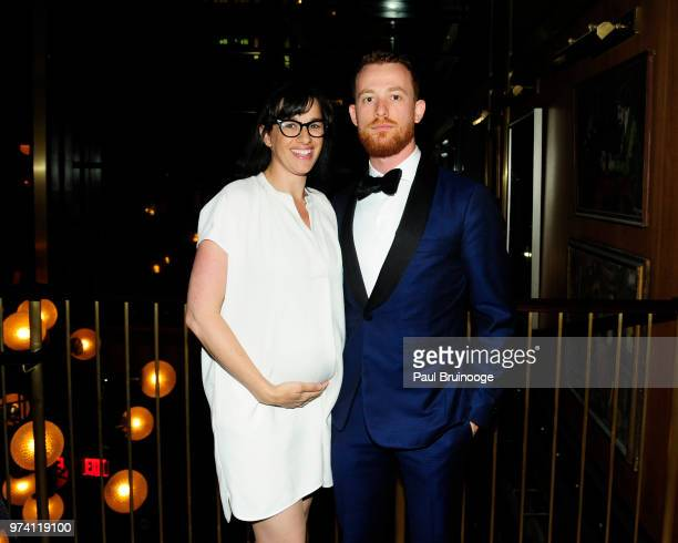 Rebecca Tucci and Damiano Tucci attend MarVista Entertainment And Parkside Pictures With The Cinema Society Host The After Party For 'The Year Of...