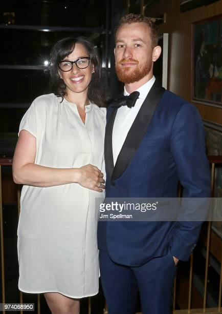 Rebecca Tucci and producer Damiano Tucci attend the screening after party for 'The Year Of Spectacular Men' hosted by MarVista Entertainment and...