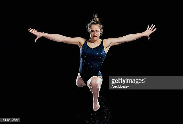 Rebecca Tunney of the British Gymnastics Team poses during a portrait session at Lilleshall National Sports Centre on February 11 2016 in Shropshire...