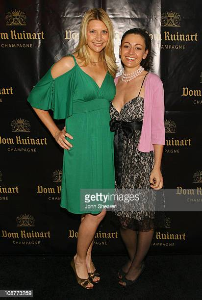 Rebecca Turk and Cemini Adams during Launch Party For Dom Ruinart 1996 at Private Estate in Bel Air California United States
