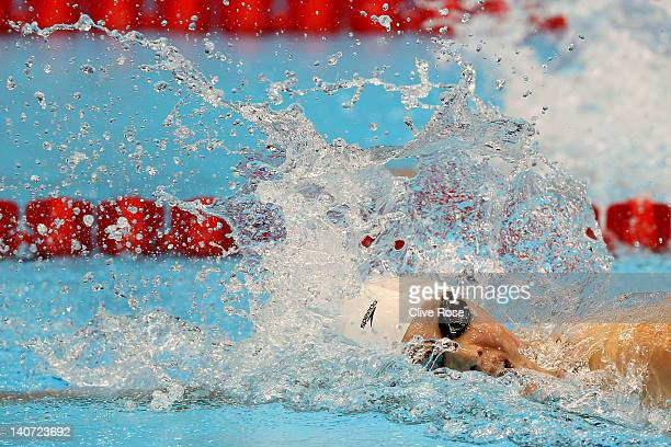 Rebecca Turner of City of Sheffield Swim Squad competes in the Women's 200m Freestyle Semi Final 2 during day three of the British Gas Swimming...