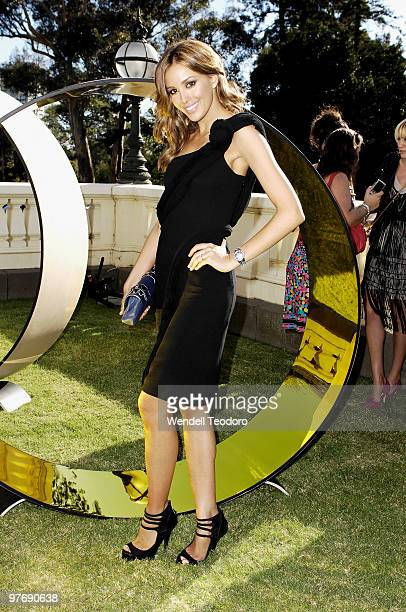 Rebecca Twigley attends the Opening Night Party for the 2010 L'Oreal Melbourne Fashion Festival at Government House on March 14 2010 in Melbourne...