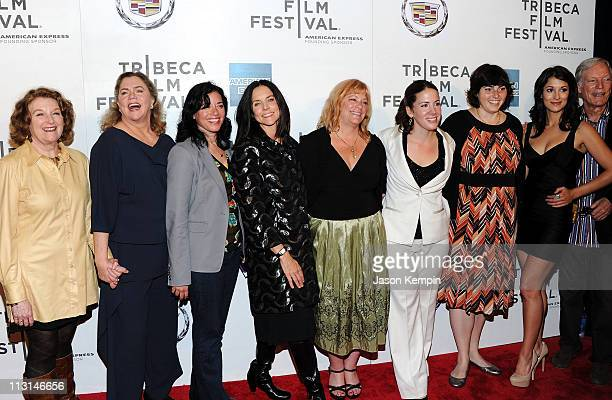 Rebecca Wackler Kathleen Turner Paula Goldberg Anne Renton Connie Cummings Jennifer Dubin Angelique Cabral and Richard Chamberlain attends the...