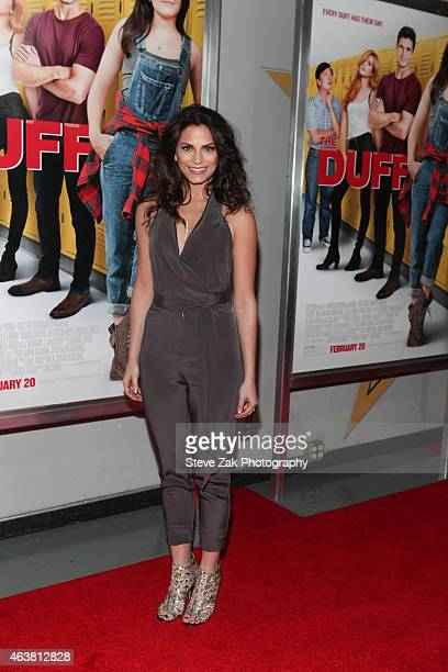 Rebecca Weil attends The Duff New York Premiere at AMC Loews Lincoln Square on February 18 2015 in New York City