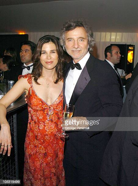 Rebecca Yeldman and Curtis Hanson during 2004 Cannes Film Festival Motorcycle Diaries Party at La Plage Coste in Cannes France