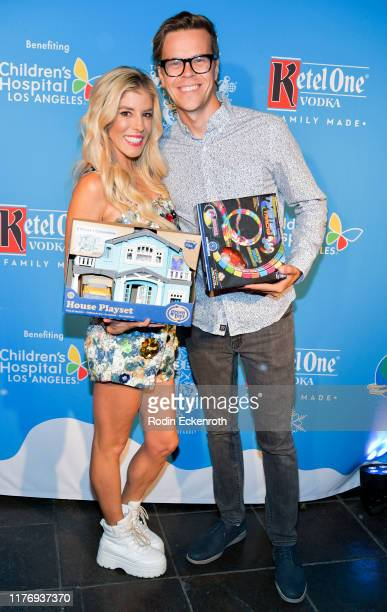Rebecca Zamolo and Matt Yoakum attends the Children's Hospital of Los Angeles Christmas In September Toy Drive at The Abbey on September 24 2019 in...