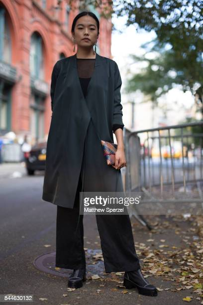 Rebecca Zhou is seen attending Linder during New York Fashion Week wearing vintage on September 8 2017 in New York City