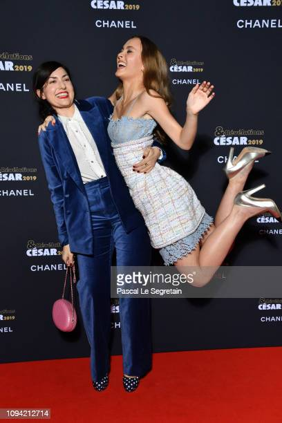Rebecca Zlotowski and LilyRose Depp attend the 'Cesar Revelations 2019' at Le Petit Palais on January 14 2019 in Paris France