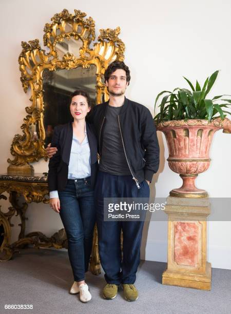 Rebecca Zlotowski and Louis Garrel attend the photocall of 'Planetarium'