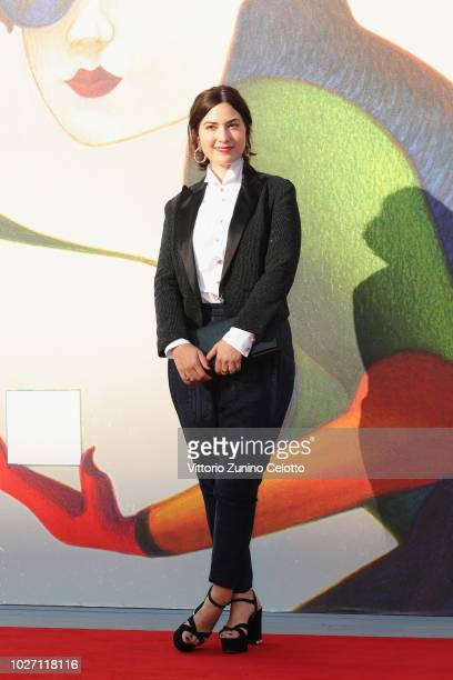 Rebecca Zlotowski walks the red carpet ahead of the L'Annee Derniere a Marienbad screening during the 75th Venice Film Festival at Sala Giardino on...