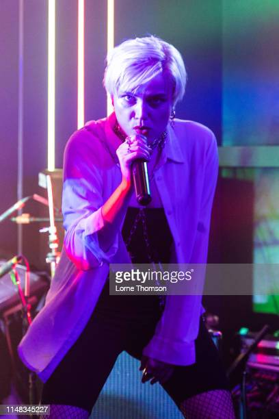 Rebecka Digervall of The Magnettes performs at Door 77 on May 10, 2019 in Brighton, England.