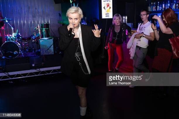 Rebecka Digervall of The Magnettes performs at Door 77 on May 10 2019 in Brighton England