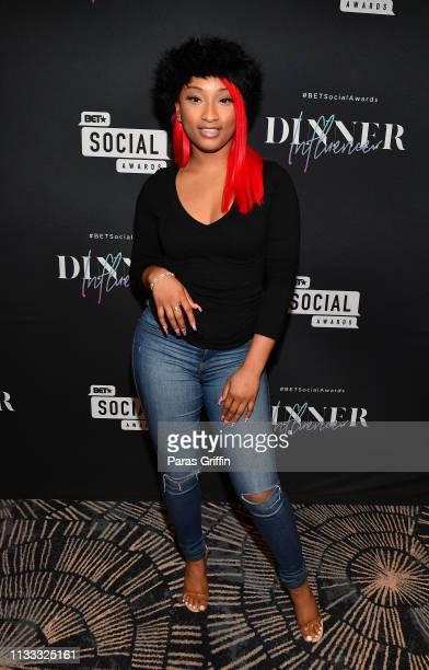 Rebeeca Jennaske PierreAntione attends 2018 BET Social Awards Dinner at TWELVE Atlantic Station on March 02 2019 in Atlanta Georgia