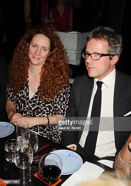 Rebekah Brooks and Will Turner attend the private dinner at Hakkasan Mayfair in support of Malaria No More on November 16 2010 in London England