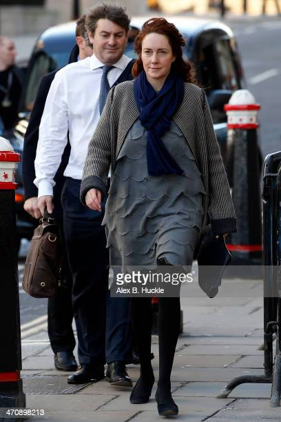 Rebekah Brooks arrives at the Old Bailey for the phonehacking trial on February 21 2014 in London England