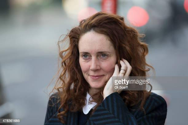 Rebekah Brooks arrives at the Old Bailey on March 13 2014 in London England Former government director of communications and News Of The World editor...