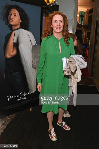 """Rebekah Brooks attends the press night performance of """"Cinderella"""" at the Gillian Lynne Theatre on August 18, 2021 in London, England."""