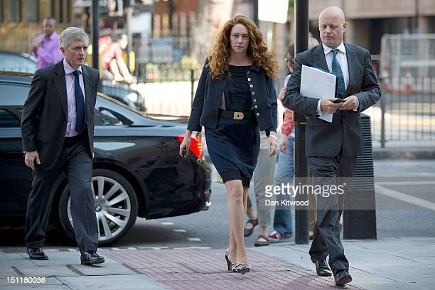 Rebekah Brooks, former Chief Executive of News International arrives at Westminster Magistrates Court on September 3, 2012 in London, England. Mrs...
