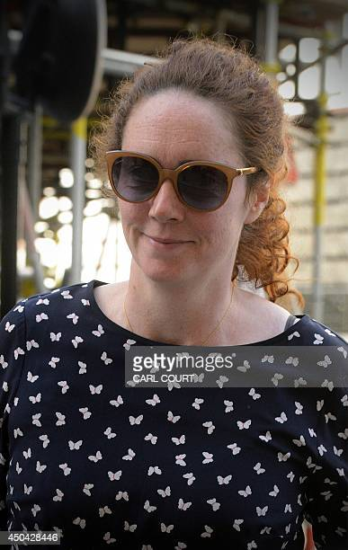 Rebekah Brooks, former News International chief executive, arrives at the Old Bailey court in central London on June 11 as the phone-hacking trial...