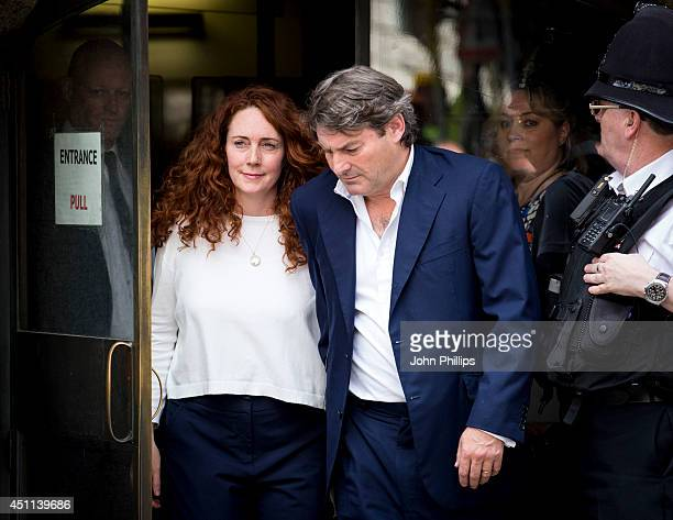 Rebekah Brooks seen leaving the Old Bailey after being cleared of all charges on June 24 2014 in London England Former government Director of...