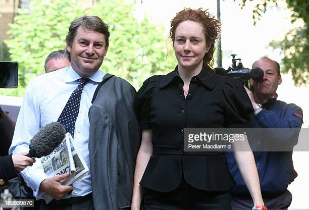 Rebekah Brooks the former head of News International and her husband Charles Brooks arrive at Southwark Crown Court where they are due to appear in...