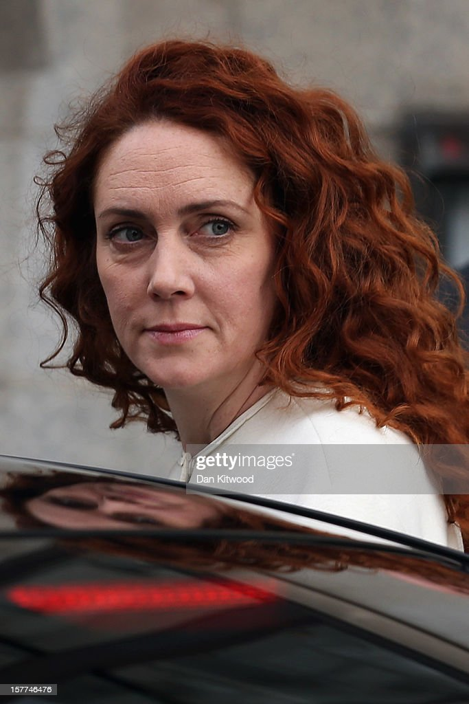 Rebekah Brooks, the former head of News International, leaves The Old Bailey on December 6, 2012 in London, England. Rebekah Brooks, Andy Coulson, Clive Goodman, John Kay and MoD employee Bettina Jordan-Barber have been charged as part of 'Operation Elveden,' the Metropolitan Police's investigation into corrupt payments to police and public officials. They all appeared today at the Old Bailey.