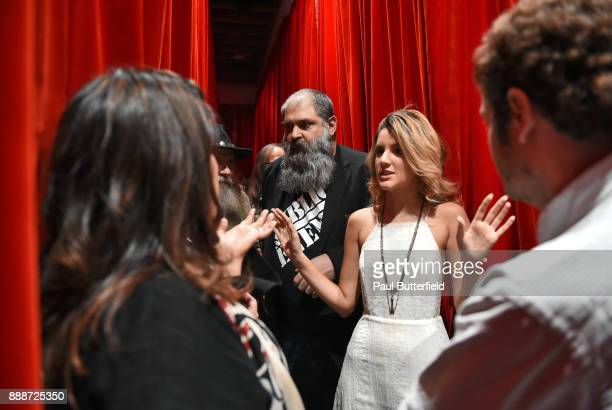 Rebekah Del Rio Christian Calloway David Nieker and Andréa Leal attend Showtime's 'Twin Peaks' Roadhouse Pop Up and Red Room Gift Shop on December 8...
