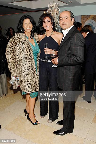 Rebekah Del Rio Dory Novian and John Neman attend Farnouche Kamran's Birthday Celebration at Private Residence on March 15 2008 in Los Angeles Ca