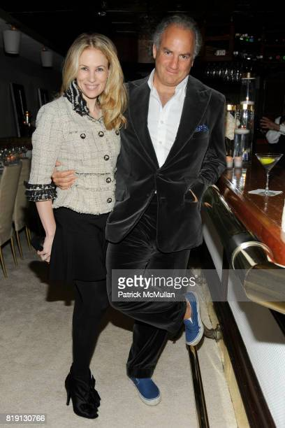 Rebekah McCabe and Charles Finch attend CHANEL and CHARLES FINCH PreOscar Dinner at Madeo Restaurant on March 6 2010 in Beverly Hills California