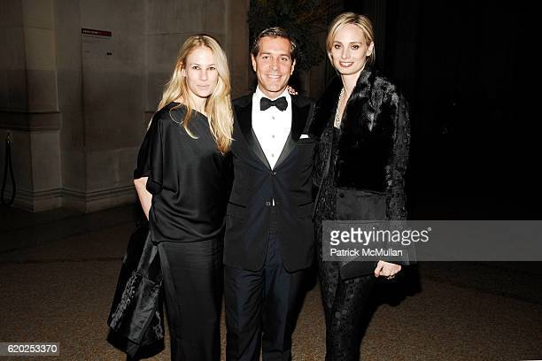 Rebekah McCabe Christian Leone and Lauren Santo Domingo attend CAROLINA HERRERA Gilded Pleasure APOLLO CIRCLE Benefit at The Metropolitan Museum of...