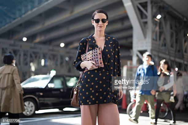 Rebekah Murphy attends the INPROCESS show during Tokyo Fashion Weekon March 17 2016 in Tokyo Japan