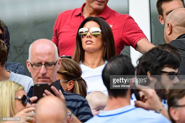 Rebekah Vardy wife of Jamie Vardy of England during the UEFA EURO 2016 Group B match between England and Wales on June 16 2016 in Lens France