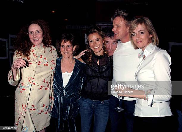 Rebekah Wade wife of Jeremy Clarkson Tana Ramsay Jeremey Clarkson Gordon Ramsay and Jane Moore attend private party at Ronnie Scott's hosted by Gary...