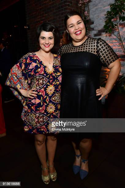 Rebekka Johnson and Britney Young attend the after party for the premiere of Netflix's 'Queer Eye' Season 1 at the Pacific Design Center on February...