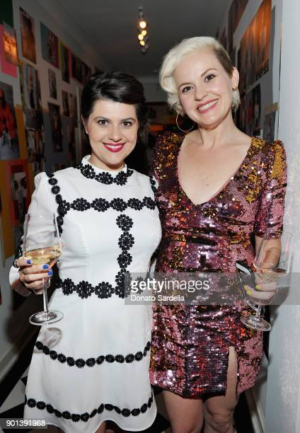 Rebekka Johnson and Kimmy Gatewood attend W Magazine's Celebration of its 'Best Performances' Portfolio and the Golden Globes with Audi Dior and Dom...