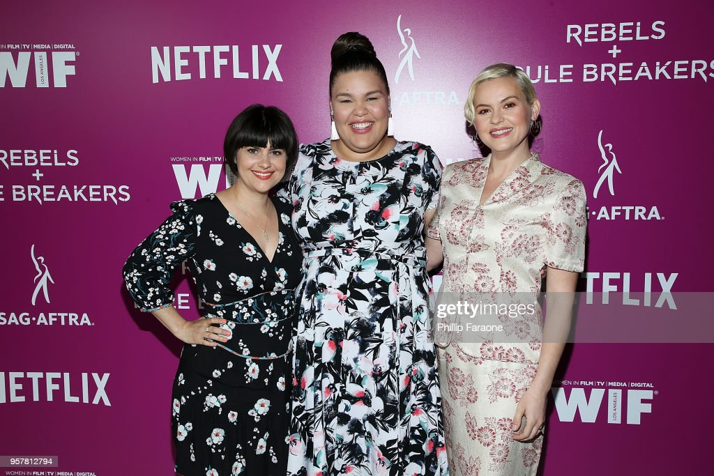 Rebekka Johnson, Britney Young, and Kimmy Gatewood attend the Netflix - Rebels and Rule Breakers For Your Consideration Event at Netflix FYSee Space on May 12, 2018 in Beverly Hills, California.